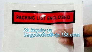 China PP film 178*140mm invoice enclosed packing list envelopes, DHL Shipping pockets for waybill, A4 size plastic packing lis factory