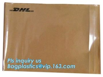China Fedex Packing List Courier Envelope Mail Bag, A5 size packing list kraft envelope courier bag, invoice waterproof packin factory