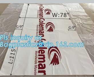 top covers clear plastic window covers printed pallet covers, Jumbo PE Plastic Type Reusable Pallet Cover, Gusseted Side