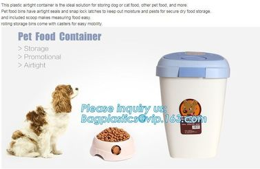 Pet Food Large Container Dog Cat Animal Storage Bin Dry Feed Seed 30L Containers, 10L Plastic Pet Dog Food Storage Conta