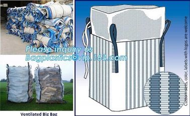 100% virgin polypropylene woven pp big bag/jumbo bags for sand/ore/stones/pellets/waste manufacturer, bagplastics, bagea