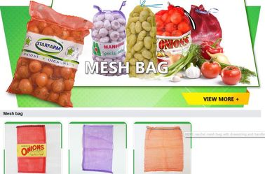 China mesh bag,Plastic PE raschel mesh net potato bags 50kg, HDPE mesh bag for vegetable and fruit,Raschel Mesh Onion Drawstri factory