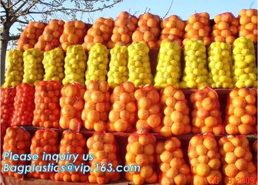 China PE raschel mesh net bag,Fruit Vegetable Potato Bag / PP PE Mesh Bag / Raschel Leno Mesh Bag for Packing onions potatoes factory