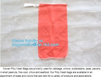 China Cheap PP/PE Knitted plastic raschel leno mesh packing bags customized color size for Agriculture fruit vegetable, bageas factory
