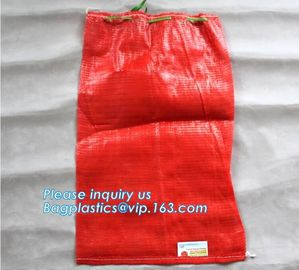 China PP woven recycle potato mesh bag,mesh potato bags, onion sack, raschel mesh bag,raschel mesh bag for packing firewood factory