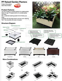 China raised garden bed,multifuctional tarp,bale net wrap,pp raised garden planters,potting bench,tool-free raised garden beds factory