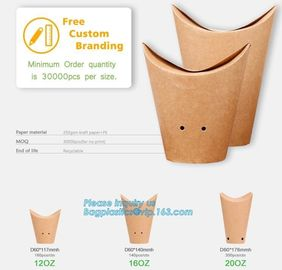 Custom printed french fries crepe holder food packaging paper cones,Food paper cones french fry crepe cone holder, crepe