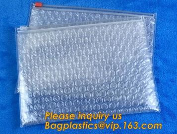 Cosmetic Slider Ziplock Bubble Bags Bubble Slide Pouch,ziplock esd bubble bag bubble packaging wrap cosmetic pouch slide