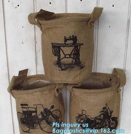 "natural jute burlap foldable decorative storage basket,X-Large Well Standing 26"" Toy Chest Baskets Storage Bins for Dog"