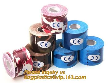 China Kinesiology tape,OEM for Famous Brand Printed Kinetic Tape Kinesiology Tape Sports Tape,medical waterproof cotton elasti factory