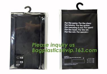 Frosted ziplock bag EVA PVC hanger bag for clothes, EVA frost drawstring bag, Frosted Plastic EVA Garment Packing Bag zi