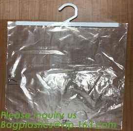 self adhesive zipper hanger hook plastic bags for garment,Type hanger hook plastic bag,zipper bag manufacturers,Hook Zip