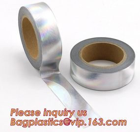 foil washi tape holographic foil washi tape,Gold Laser Decorative Reflective Customized Washi Tape,Decorative Adhesive T