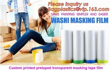 HDPE Masking Film,Indoor Application Pretaped Drop Cloths,masking film,pre-taped cover car painting protection film hous