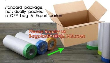 pre-taped paintable car masking film,auto paint solution HDPE masking film,1500*2300mm Masking Film Tape Roll Self Adhes