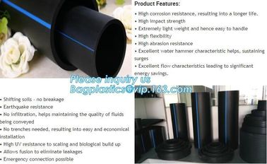 China 400mm sn4 sn8 hdpe culvert pipe,SN6 400mm wall corrugated PE drainage pipe dwc hdpe plastic culvert pipe prices BAGEASE factory