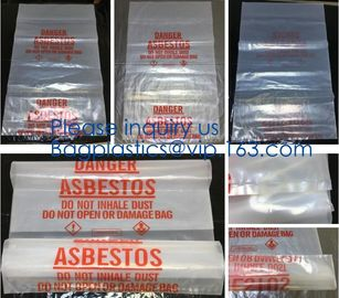 Plastic Manufacturer Extra Large Heavy Duty Clear Asbestos Garbage Removal Construction Waste Bags, bagplastics, bagease