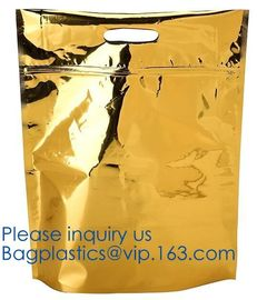 qual seal flat bottom stand up pouch with ziplock,plastic bag slide zipper with side gusset,metalized 8 side seal food p