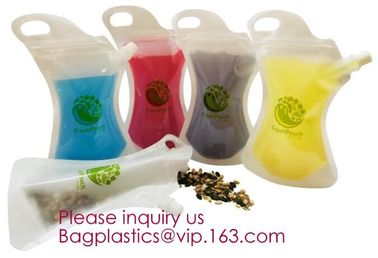 Custom Printing Logo High quality Eco-friendly Reusable Soft drink bag with spout,stand up spout pouch doypack aluminum