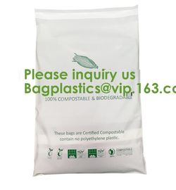 China EN13432 100% Bio Degradable Mailing Bags Custom PLA PBAT Compostable Courier Bags,Eco Reusable Recycle Compostable Mail factory