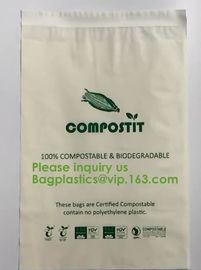 China Cheap factory direct biodegradable courier bags with EN13432 BPI OK compost home ASTM D6400 certificates BAGPLASTICS PAC factory