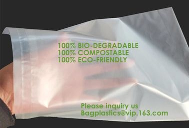 China Compostable biodegradable packaging mailing bag with handle,Biodegradable compostable plastic courier shipping envelope factory