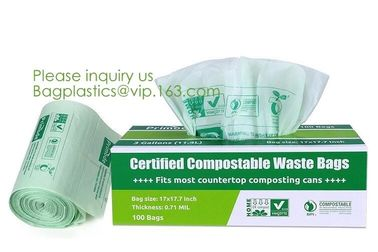 China Hospital Medical Custom Printed Plastic Scented Compostable Bio Degradable Garbage Bags With Logo,bagease bagplastics factory