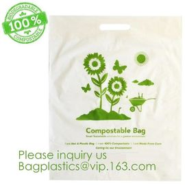 China Eco-friendly Roll Compostable Plastic Bag Drawstring Biodegradable Garbage Bags,cornstarch custom compostable biodegrada factory