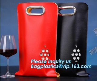 China Eco friendly Neoprene 2 Pack Bottle Carrier Extra Thick Insulated Baby Bottle Cooler Bag Tote Wine Bottle Protector pack factory