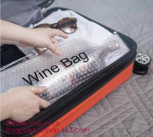 China Reusable protector cover holder bag,protector plastic bubble bags for wine bottles wine bottle cover, BIODEGRADALE, ECO factory