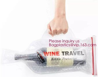 China Bottle Protector Bubble Travel Bag,Travel Trip Bag With Bubble Inside And Double Ziplocks,Sleeve Travel Bag - Inner Skin factory