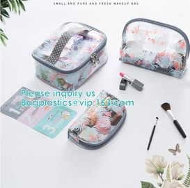 Travel Luggage Pouch Custom Clear Transparent PVC Travel Toiletry Bag Make Up Cosmetic Bag,Vinyl Wash Beauty Cosmetic Tr