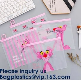 Transparent Clear Slider Zipper Bag Ziplock Bag For Stationery,Matte Slider Zipper Top Soft Touch PE Polybags Bag