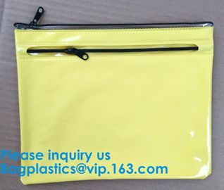 Custom Made Clear Plastic Vinyl Pvc A4 File Bag With Slider Ziplock,Vinyl PVC Bags With Slider Zipper, BAGEASE, BAGPLAST