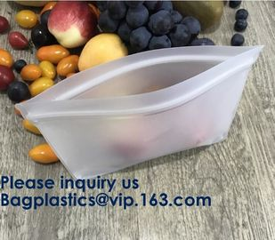 China Eco Friendly Amazon Reusable Storage Sandwich Color Ziplock Peva Bag,Snack Peva Bag Food Package Snack Packaging Bag factory