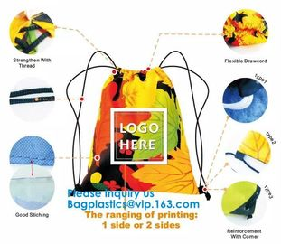 Custom Gift Promotional 210D 420D Polyester 190T Nylon Small Drawstring Bag,Promotional Heavy Duty 190T Nylon Polyester