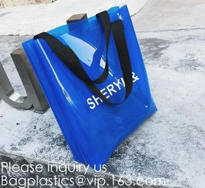 China Mirror Shiny PVC Shopping Bag,Wholesale Custom Printed Waterproof Transparent Pvc Tote Bag Clear Pvc Jelly Shopping Bag factory