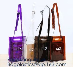 China Custom Logo Home Textile Clear Vinyl PVC Plastic Quilt Blanket Zipper Bag With Handles,promotional pvc shopping bag factory
