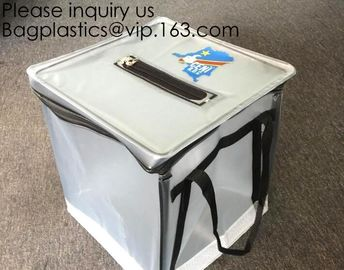 China Pvc Ballot Voting Box Ballot Zipper Bag PVC Folding Ballot Bag, Pallet Security Supply Bag, Turnover Box Nigeria Voting factory