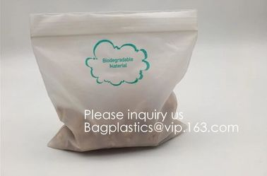 China Eco PLA 100% Biodegradable Corn Starch Compostable Plastic Zipper Bag,Resealable PLA Biodegradable Poly D22/EPI PAC Bag factory