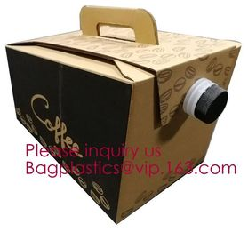 China 2L/3L/5L Disposable Coffee Bag In Box With Valve Coffee Box Dispenser Bag In Box Bags, Wine Carriers, Juice Beverage Bag factory