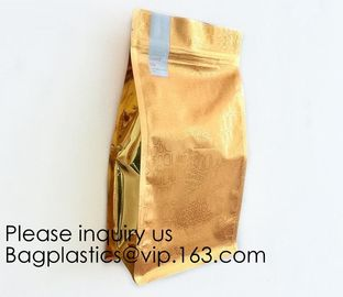 China Laminated Material Metalized Film Side Gusset Pouches,Digital Metaled Print Stand Up Metaled Pouch,Resealable Metalized factory
