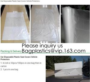 Car Disposable Plastic Seat Covers Vehicle Protectors, Five Set of Vehicle Maintenance Protection, Masking Dust Covers