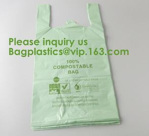 Heavy Duty Compostable T-shirt Handle Tie Plastic Roll Garbage Bags Trash Bags, t shirt carry bags, bagease, bagplastics