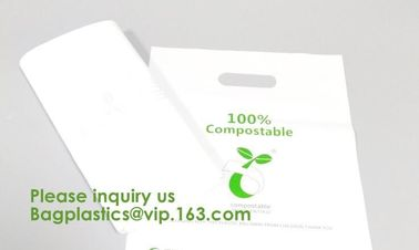 Eco friendly EN13432 Ok home compost certified 100% biodegradable compostable plastic T-shirt vest bag for shopping
