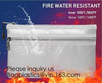 China Silicone Coated Fire Resistant Envelope bag Fireproof Money Document Bag,Fireproof Bag Fire Proof and Water Resistant Do factory