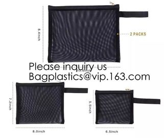 China Zipper Mesh Bags, Pack of 4 (S/M/L & Pencil Pouch), Beauty Makeup Cosmetic Accessories Organizer, Travel Toiletry Kit Se factory
