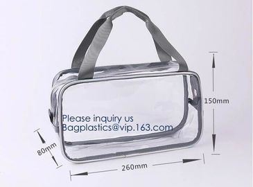 China Holiday Cosmetic Bag Flamingo Ice Cream Transparent Makeup Bags With Handle See Through Plastic Makeup Bags, Dress Bags factory