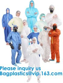 Polypropylene Coverall, Disposable, Elastic Cuff, White, Xlarge,SMS Coverall with Hood, Disposable, Elastic Cuff, X-Larg