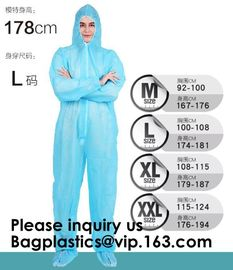 China Boot, Hood, Elastic Cuffs, Ankles, Waist. Heavy-Duty Protective Coveralls. Unisex Disposable Workwear for cleaning servi factory